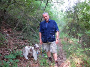 Giulio says his dog, Eda, is his secret weapon in hunting truffles.