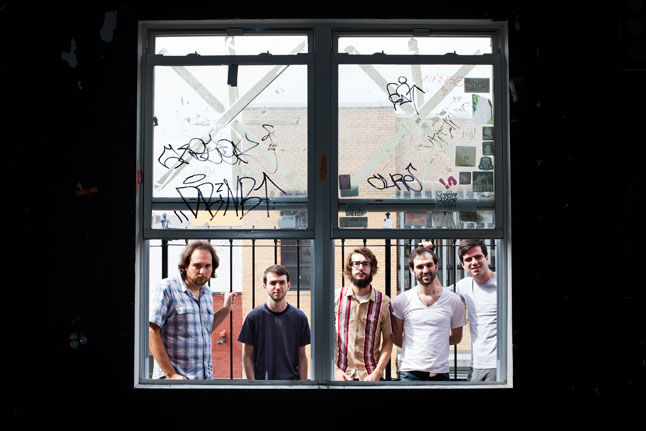 Patrick Stickles (second from right) with members of Titus Andronicus
