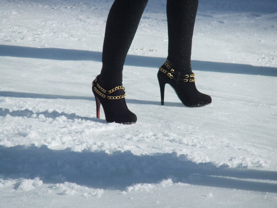 footwear for a day on the slopes. photograph by ruth ingram